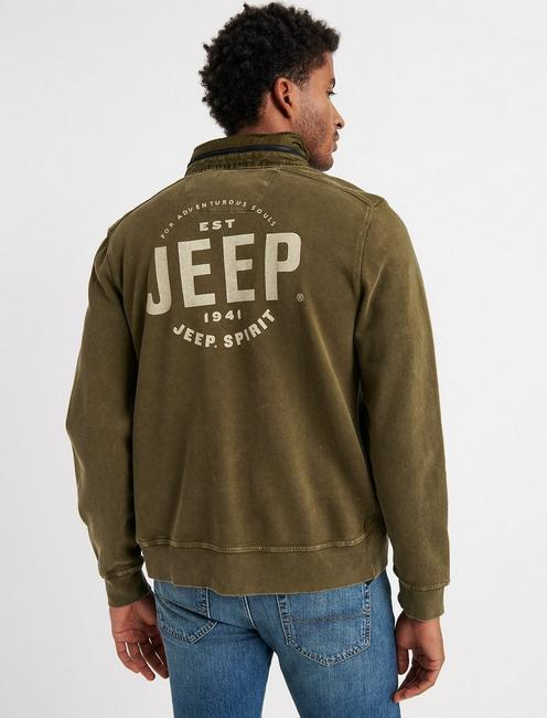 JEEP SUGAR MAGIC MOCK NECK, DARK OLIVE