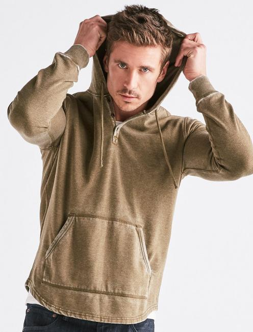 SHASTA BURNOUT HOOD, DARK OLIVE