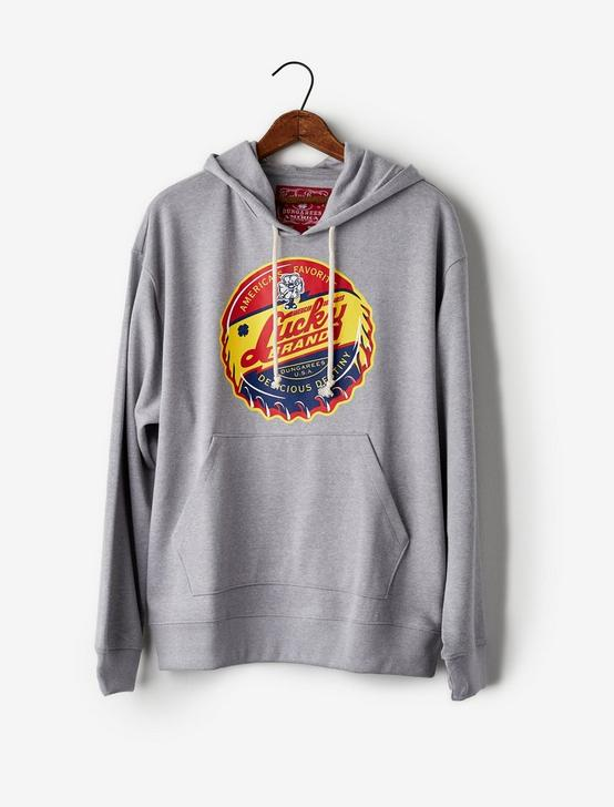 Totally Lucky Bottle Cap Hooded Sweatshirt, HEATHER GREY, productTileDesktop