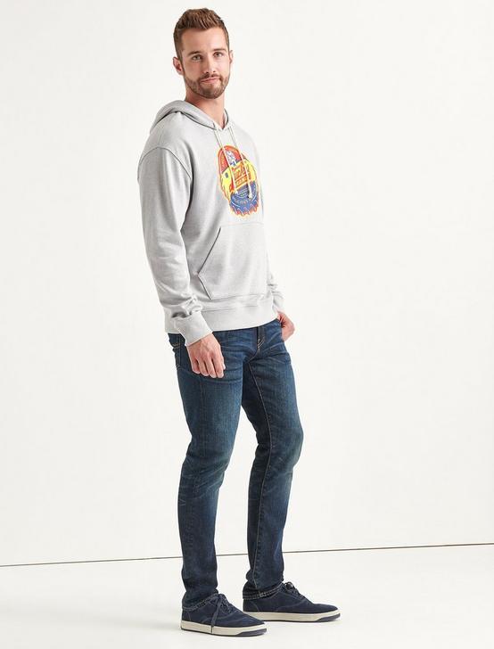 Totally Lucky Bottle Cap Hooded Sweatshirt, HEATHER GREY, productTileDesktop