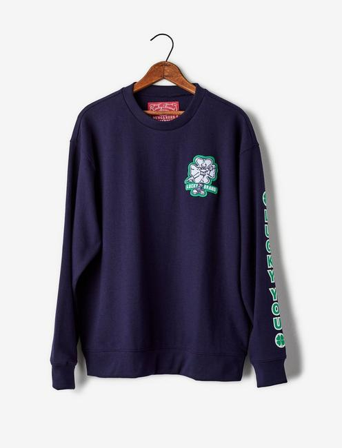 Totally Lucky Patch Crew Sweatshirt,