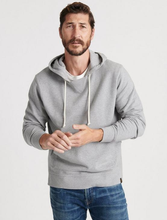 TERRY POP-OVER HOOD, HEATHER GREY, productTileDesktop