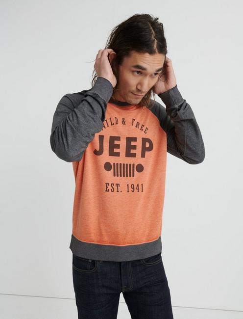 BURNOUT COLOR BLOCK JEEP CREW, MULTI