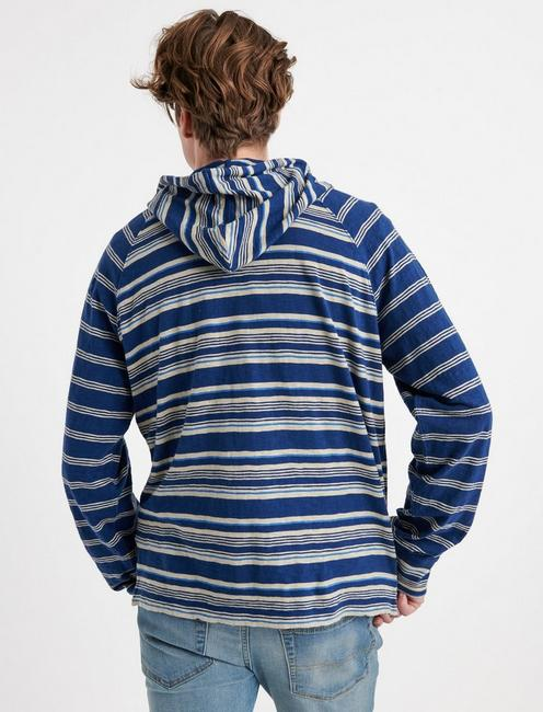 MIXED STRIPED HOODIE, MULTI