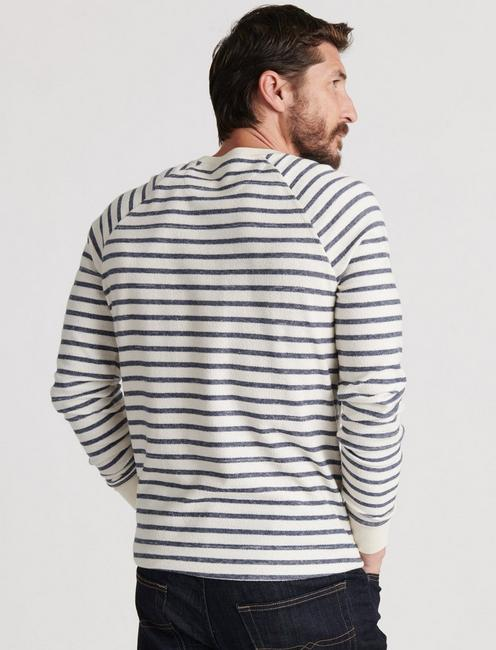 STRIPED RAGLAN CREW, MULTI