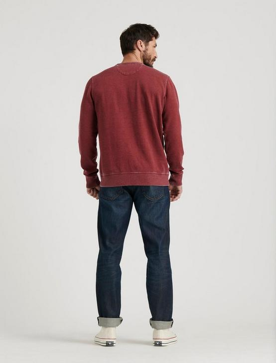 BURNOUT FLEECE CREW, MADDER BROWN, productTileDesktop