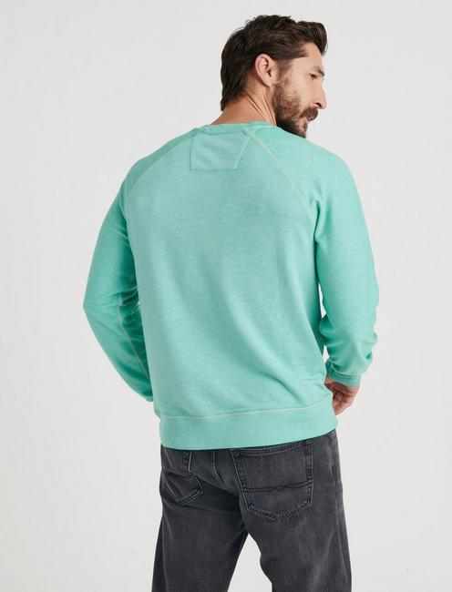 WOODSTOCK LOGO BURNOUT CREW, AGATE GREEN