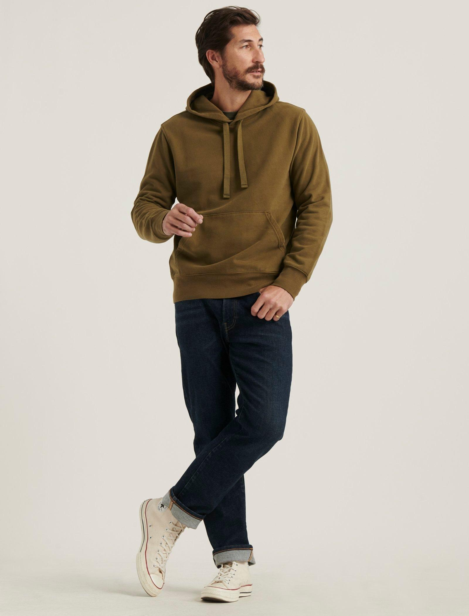 SUEDED FRENCH TERRY HOODIE, image 2