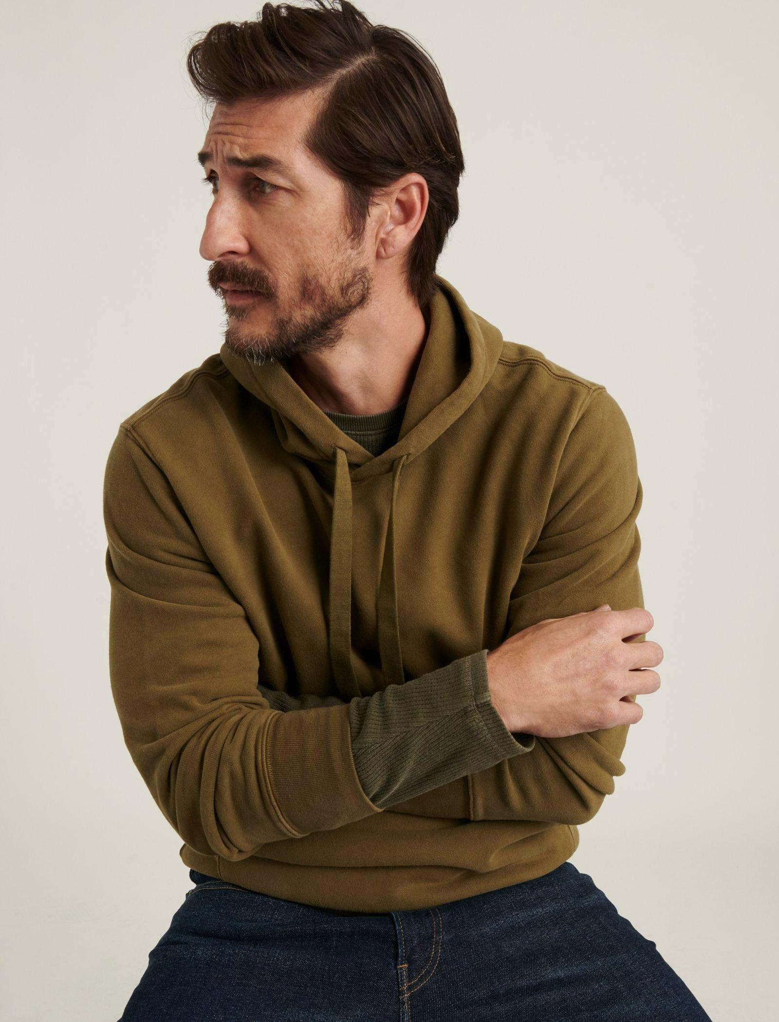 SUEDED FRENCH TERRY HOODIE, image 5