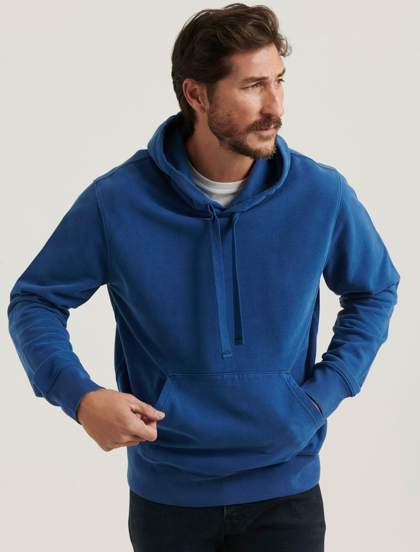 SUEDED FRENCH TERRY HOODIE, image 1
