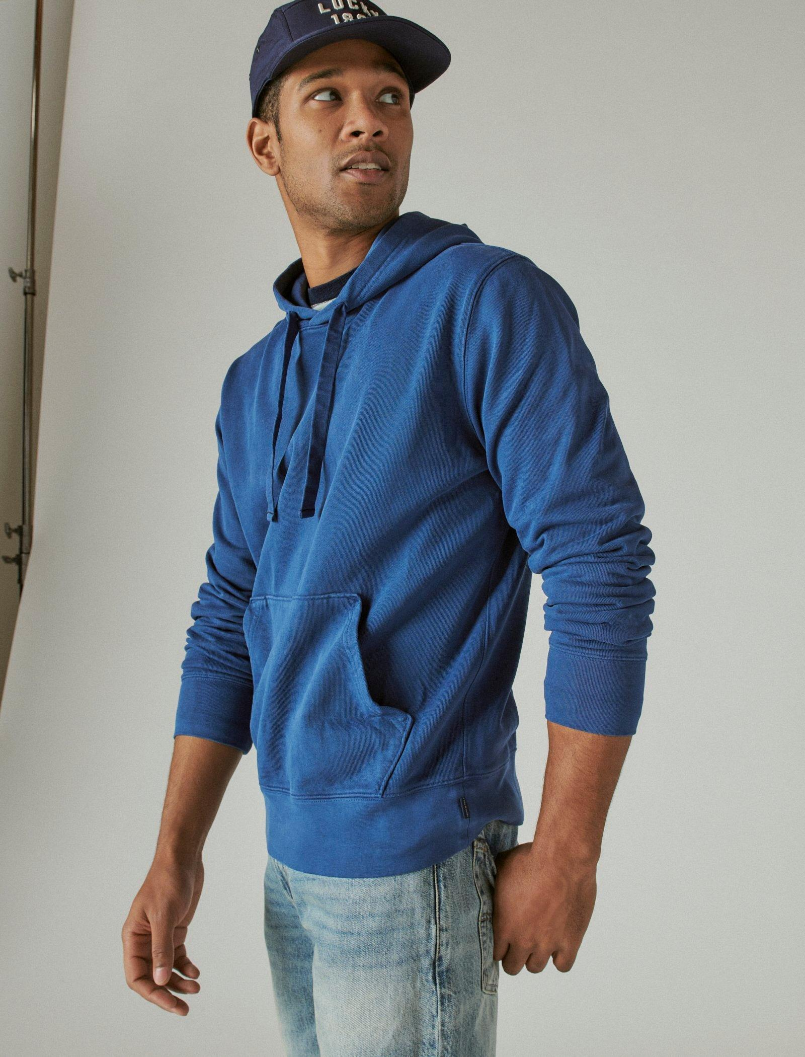 SUEDED FRENCH TERRY HOODIE, image 4