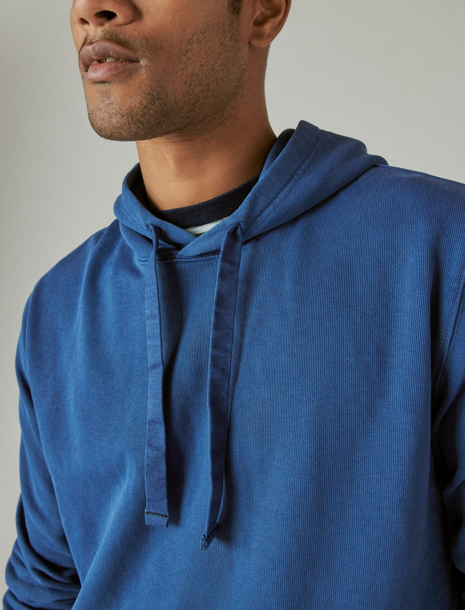 SUEDED FRENCH TERRY HOODIE, image 6