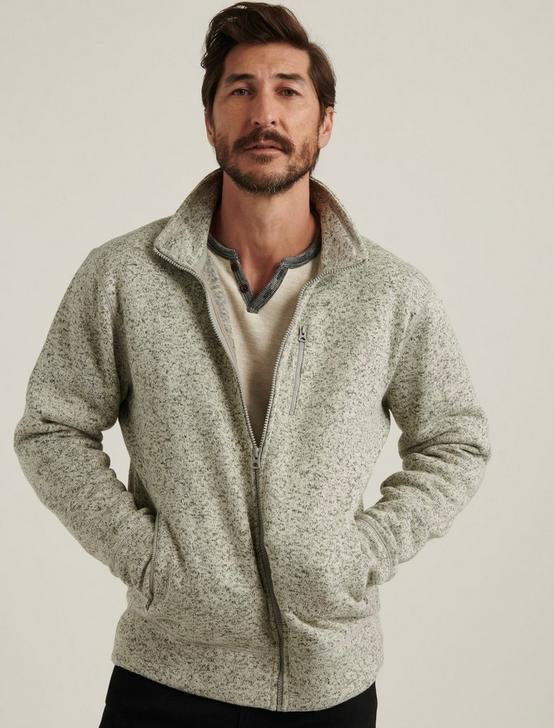 Los Feliz Fleece Full Zip Mock Neck