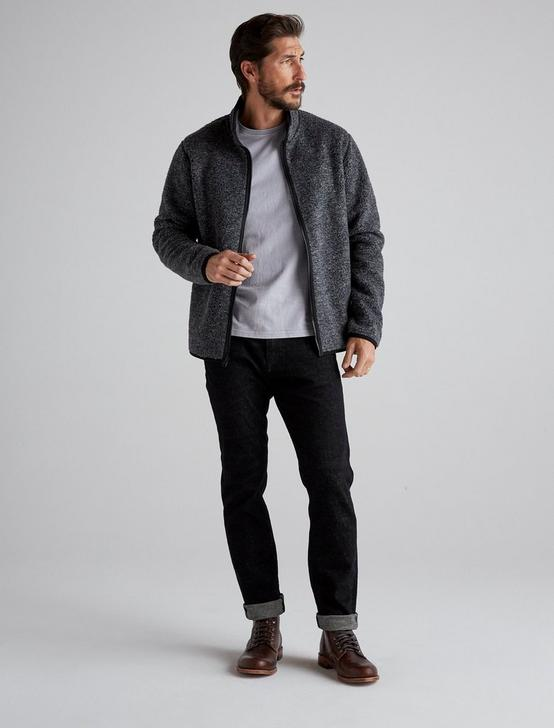 SOLID SHERPA FULL ZIP MOCK NECK, HEATHER GREY, productTileDesktop