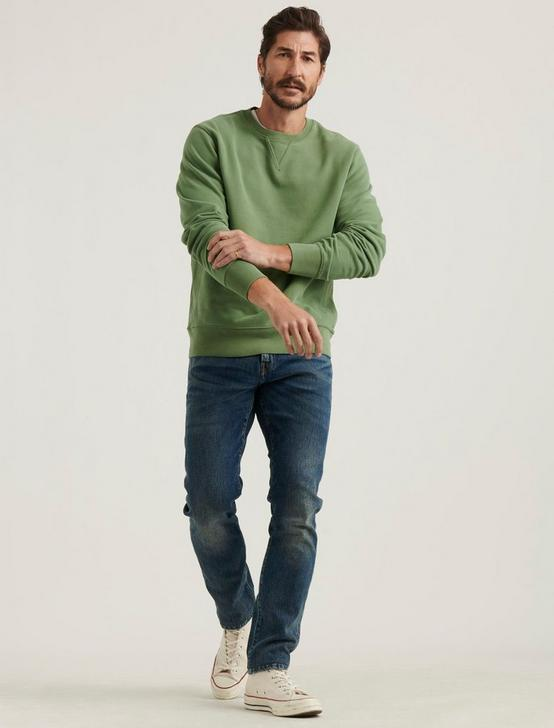 SUEDED TERRY CREW, ELM GREEN, productTileDesktop