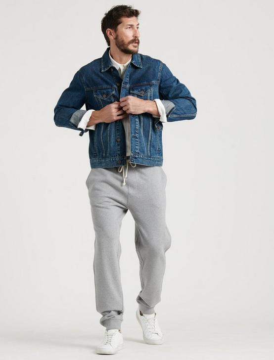 TERRY SWEATPANT, HEATHER GREY, productTileDesktop