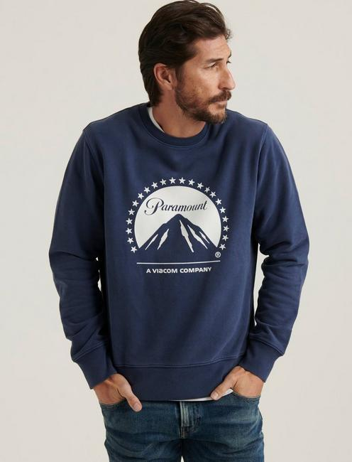PARAMOUNT SUEDED FLEECE CREW NECK,