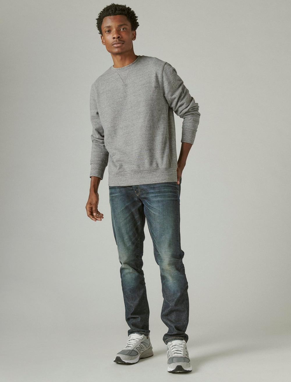 SUEDED FRENCH TERRY CREW SWEATSHIRT, image 2