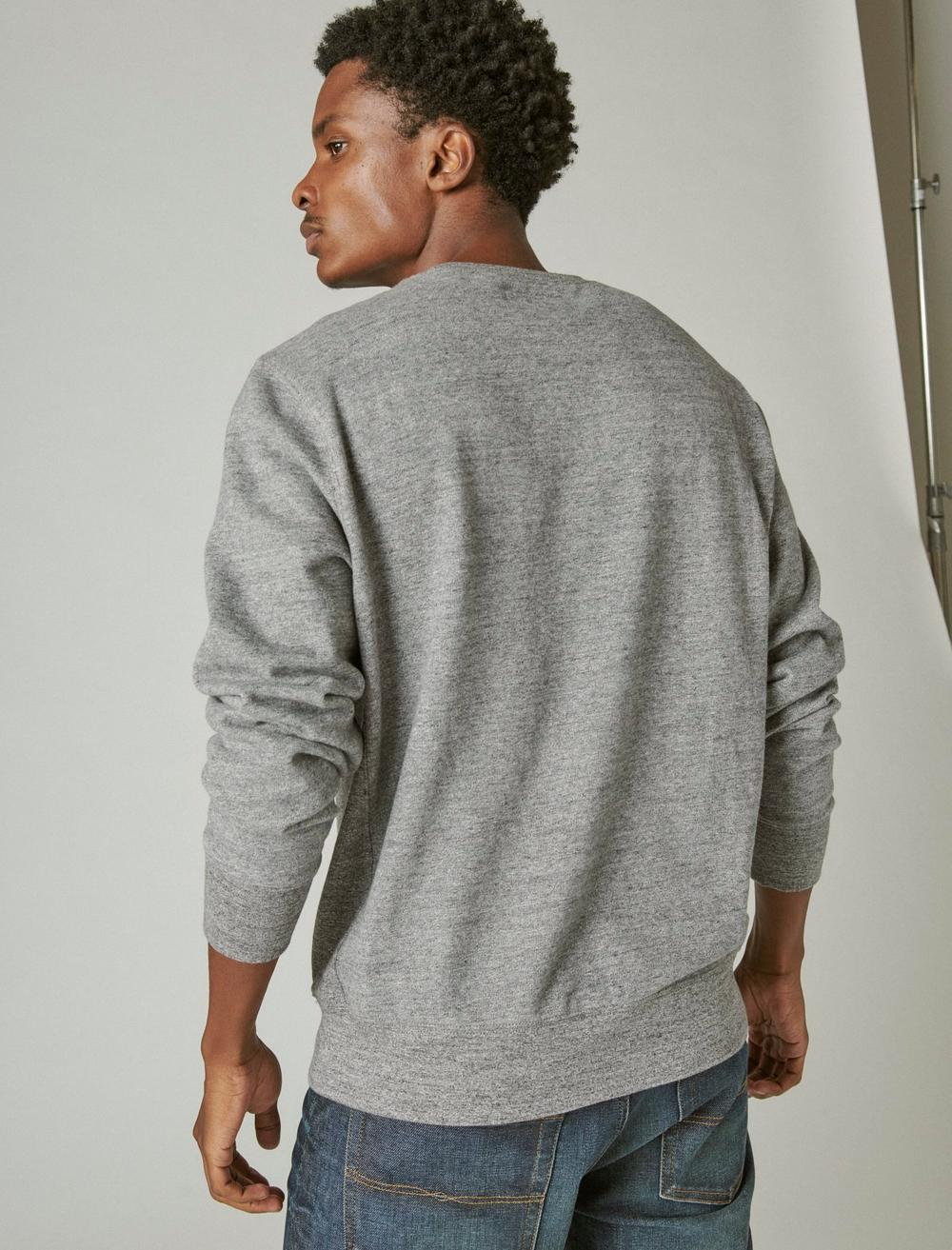 SUEDED FRENCH TERRY CREW SWEATSHIRT, image 4
