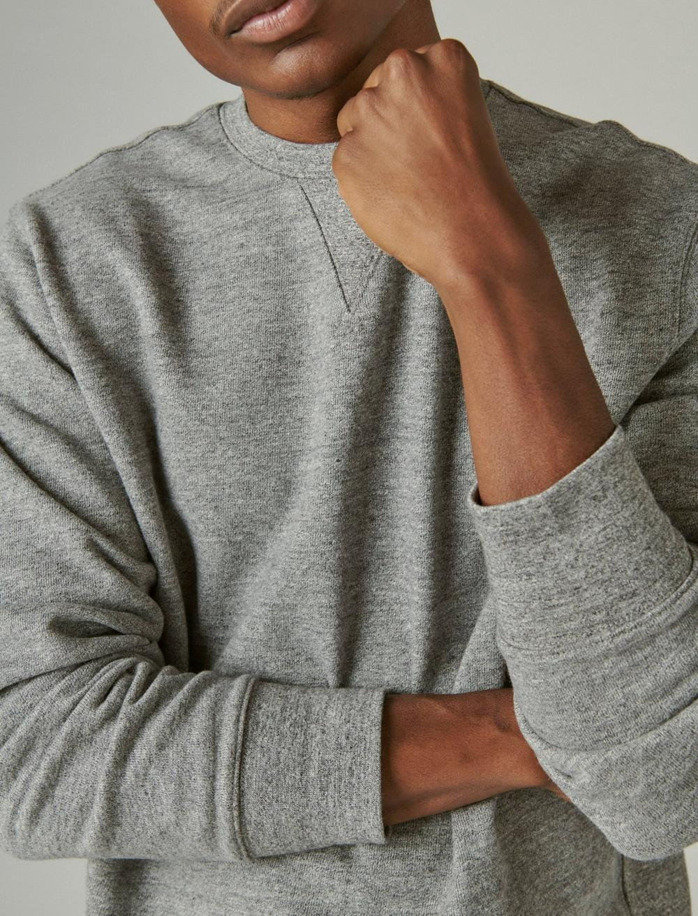 SUEDED FRENCH TERRY CREW SWEATSHIRT, image 5