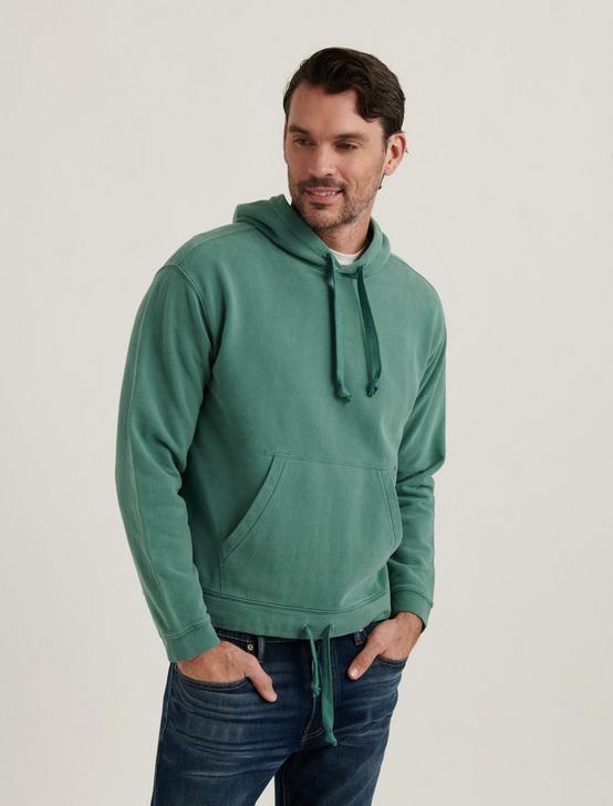 SUEDED FLEECE TERRY CALIFORNIA HOODIE, SEA PINE, productTileDesktop