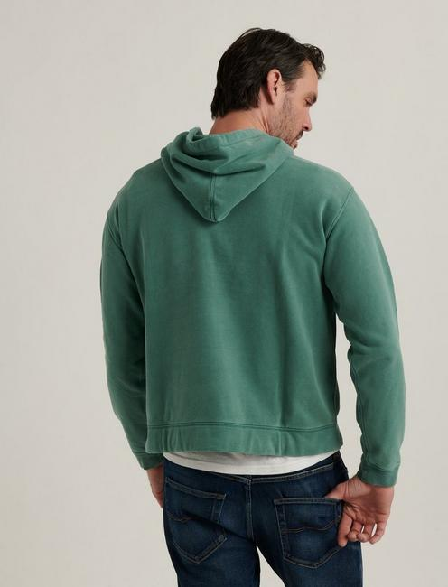 SUEDED FLEECE TERRY CALIFORNIA HOODIE, SEA PINE