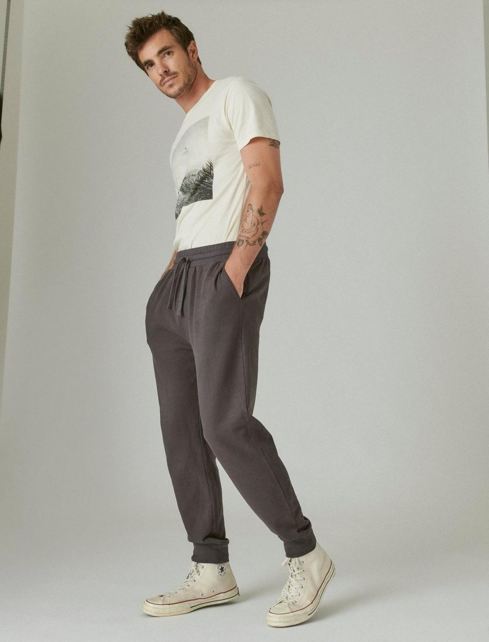 SUEDED FRENCH TERRY JOGGER PANT, image 2