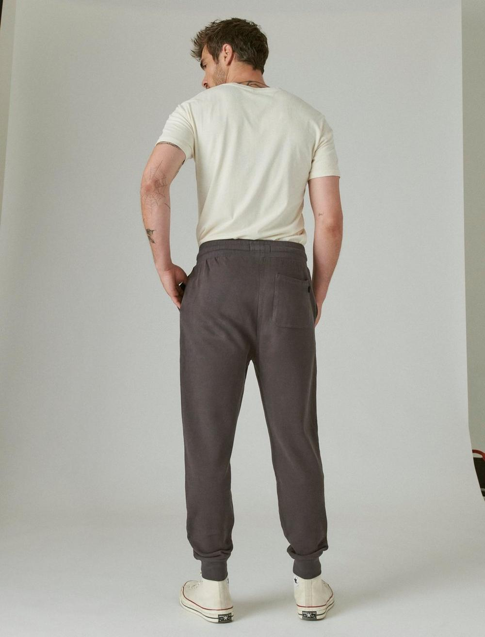 SUEDED FRENCH TERRY JOGGER PANT, image 3