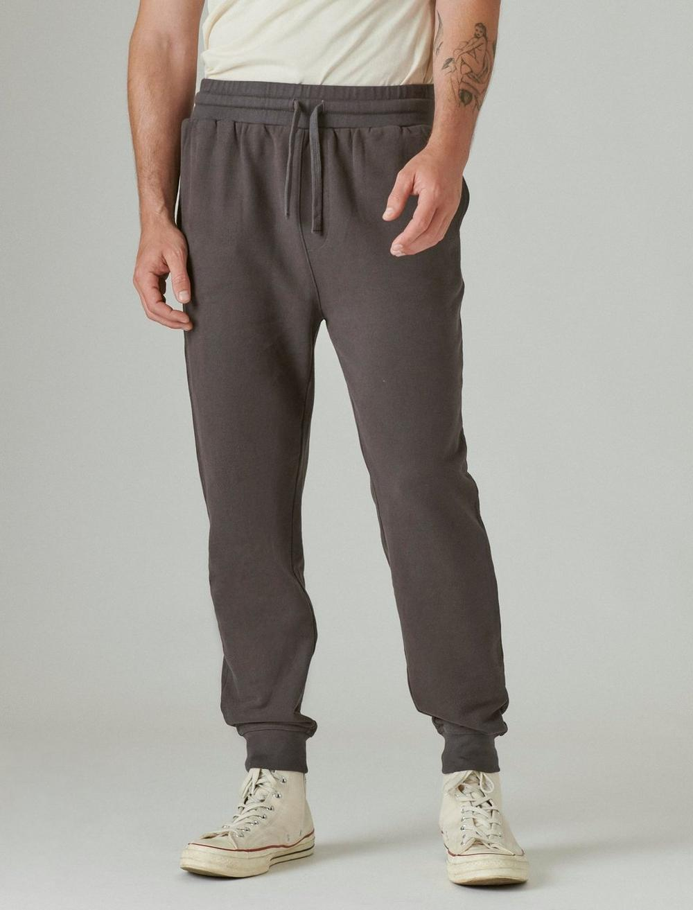 SUEDED FRENCH TERRY JOGGER PANT, image 4