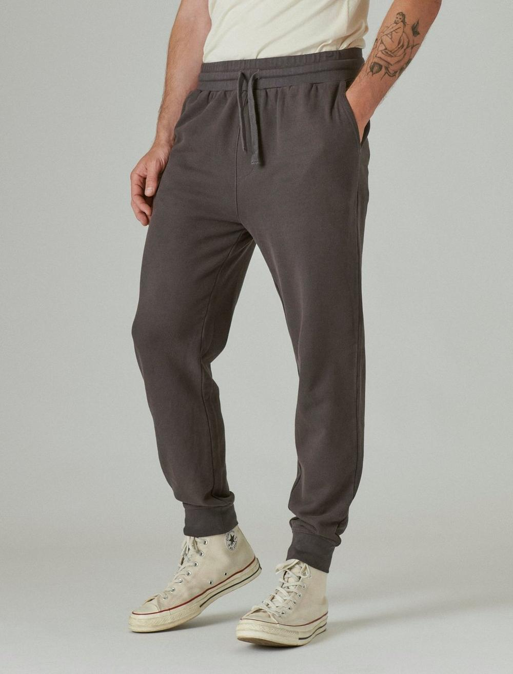 SUEDED FRENCH TERRY JOGGER PANT, image 5