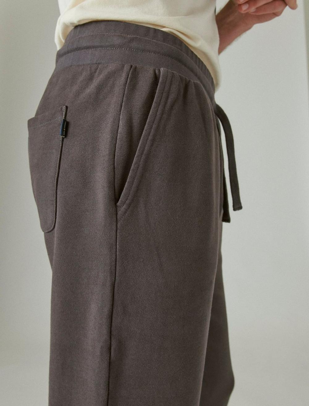 SUEDED FRENCH TERRY JOGGER PANT, image 6