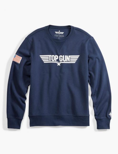 TOP GUN CREW SWEATSHIRT, BLACK IRIS
