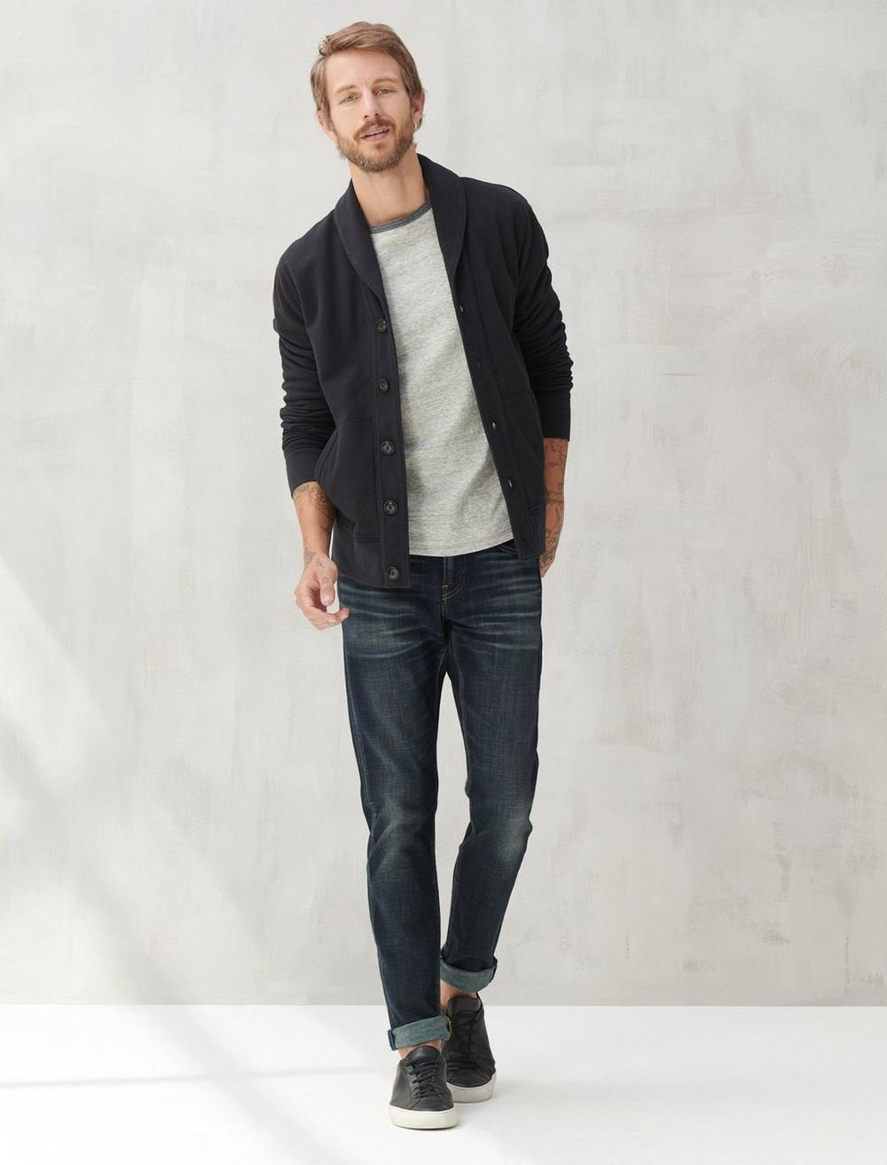 SUEDED TERRY CARDIGAN, image 2