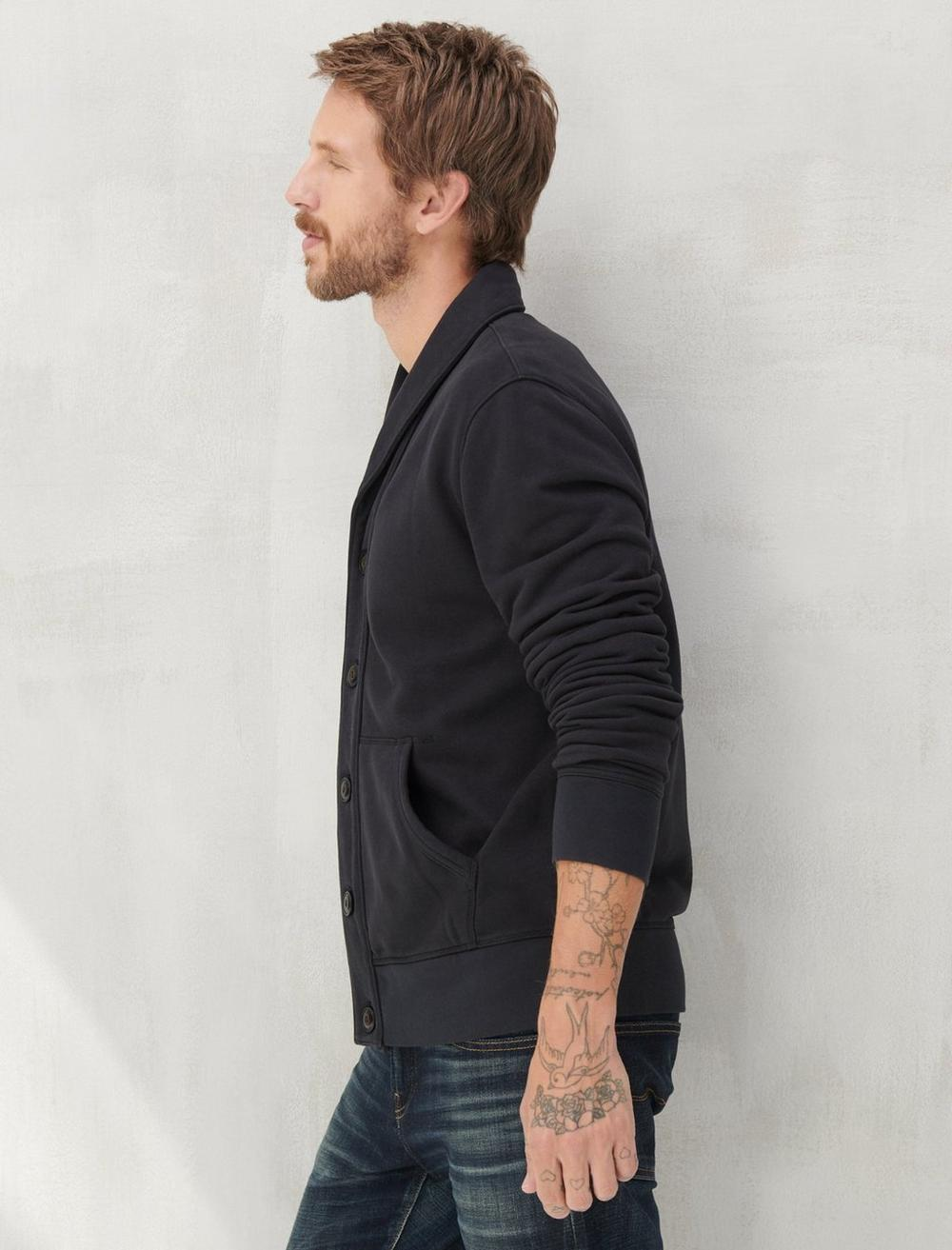 SUEDED TERRY CARDIGAN, image 3