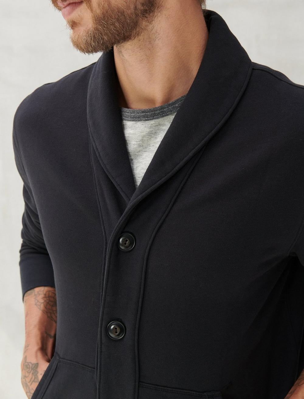 SUEDED TERRY CARDIGAN, image 5
