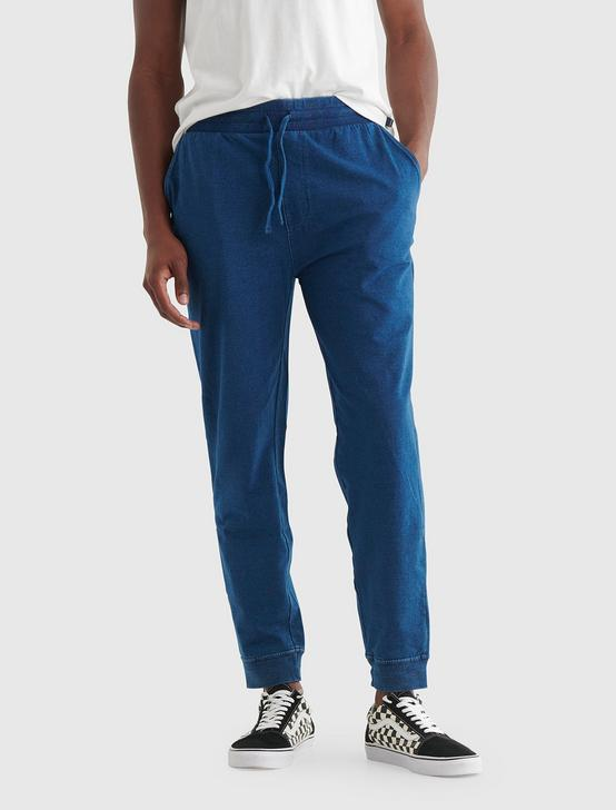SUEDED FLEECE TERRY JOGGER PANT, # 419 INDIGO, productTileDesktop