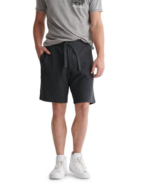 SUEDED FLEECE TERRY SHORT, RAVEN, productTileDesktop