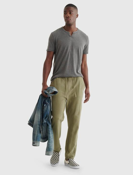 CUT OFF HEM SWEATPANT, DESERT SAGE, productTileDesktop