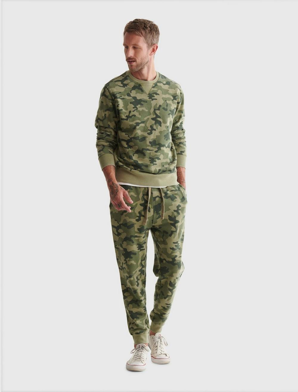 SUEDED TERRY CAMO JOGGER, image 2