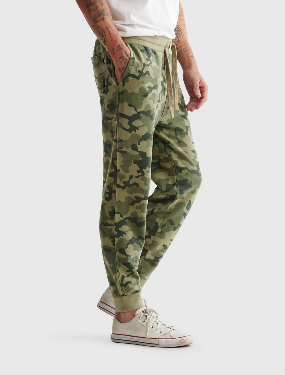 SUEDED TERRY CAMO JOGGER, image 3