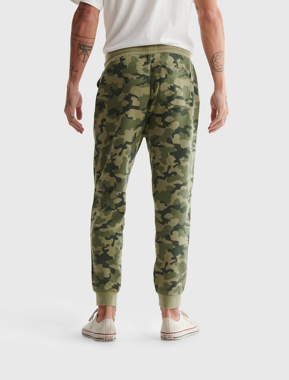 SUEDED TERRY CAMO JOGGER, image 4