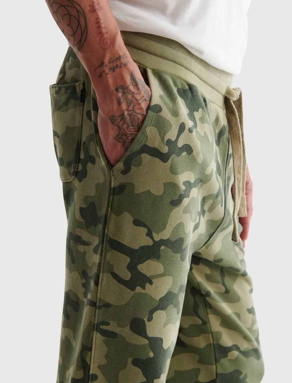 SUEDED TERRY CAMO JOGGER, image 5