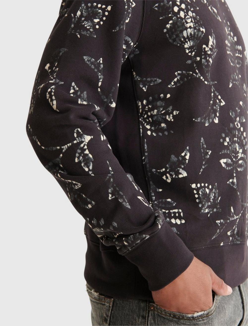 NOVELTY PRINT SUEDED TERRY CREW, image 5