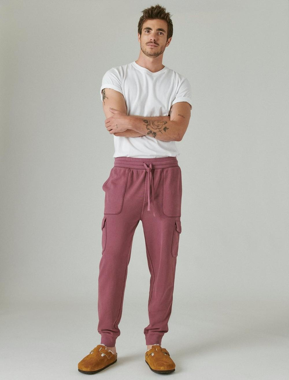 SUEDED TERRY CARGO JOGGER, image 1
