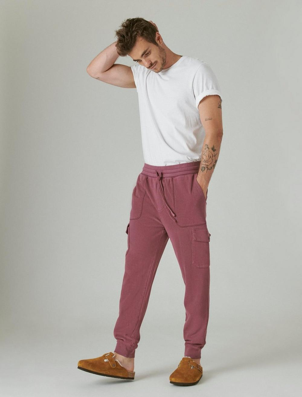 SUEDED TERRY CARGO JOGGER, image 2