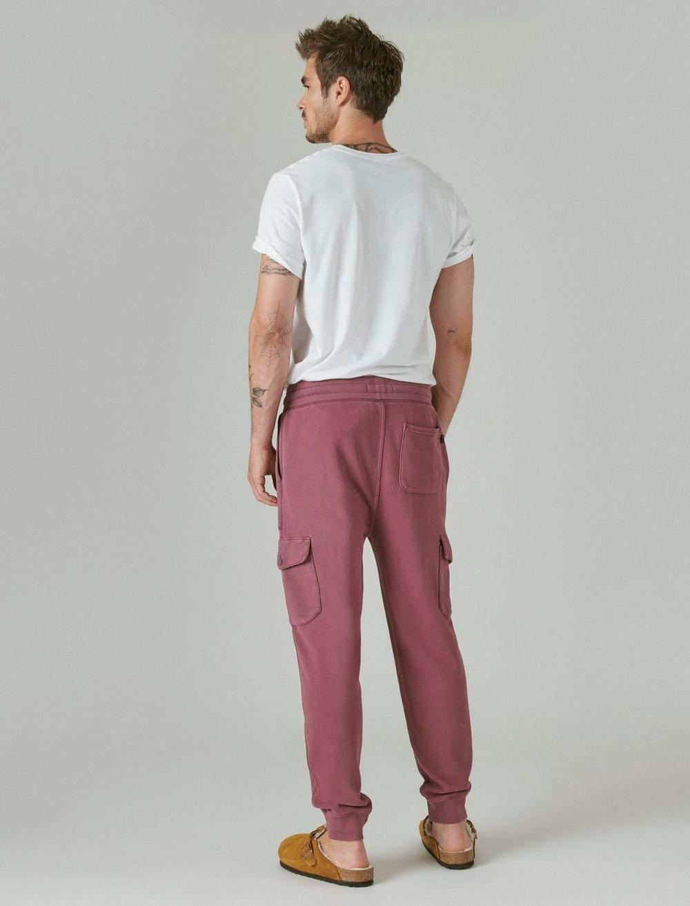 SUEDED TERRY CARGO JOGGER, image 3
