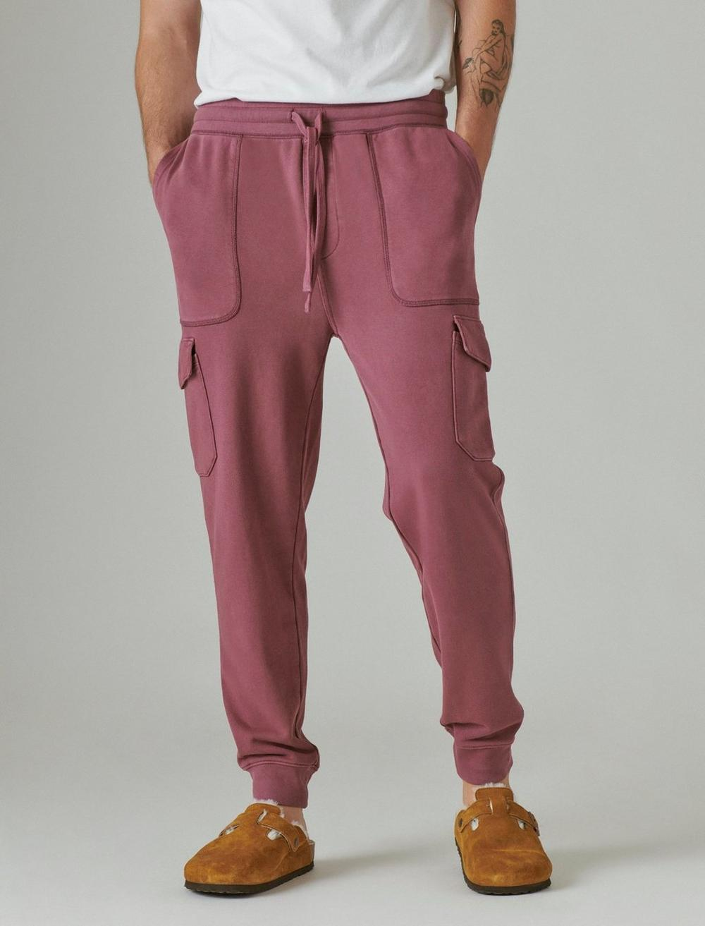 SUEDED TERRY CARGO JOGGER, image 4