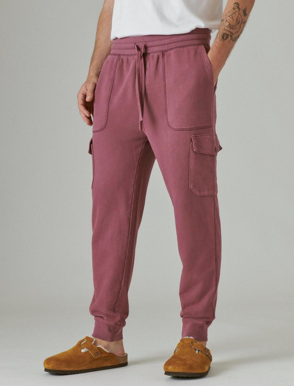 SUEDED TERRY CARGO JOGGER, image 5
