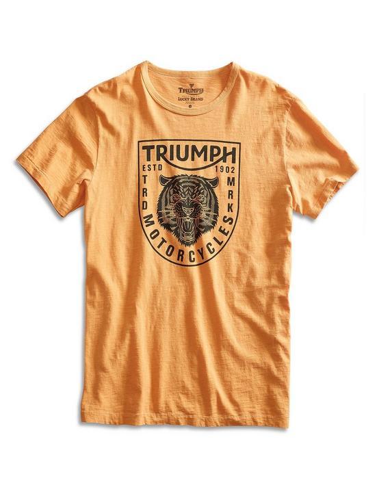 TRIUMPH TIGER HEAD TEE, HONEY GOLD, productTileDesktop