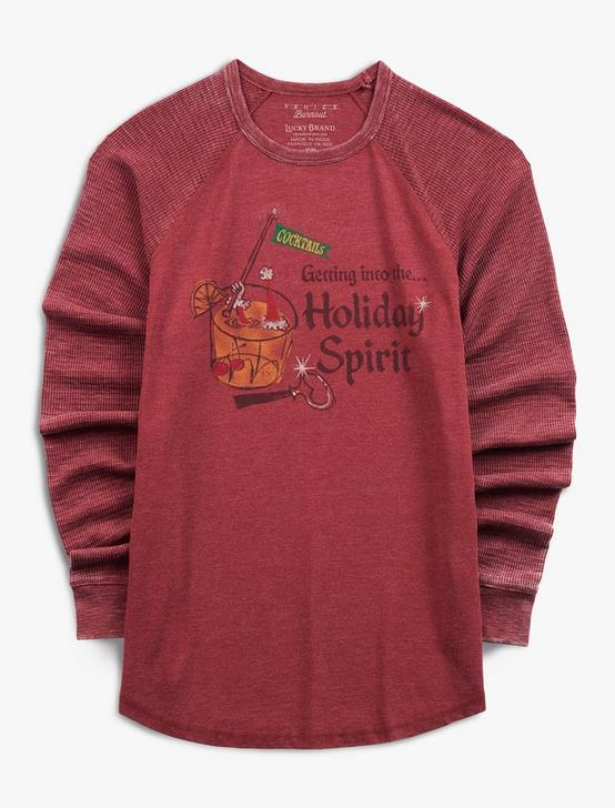 HOLIDAY SPIRIT BURNOUT THERMAL, RUSSET BROWN, productTileDesktop